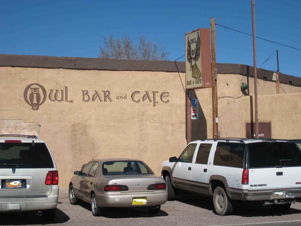 The World Famous Owl Cafe in San Antonio, New Mexico