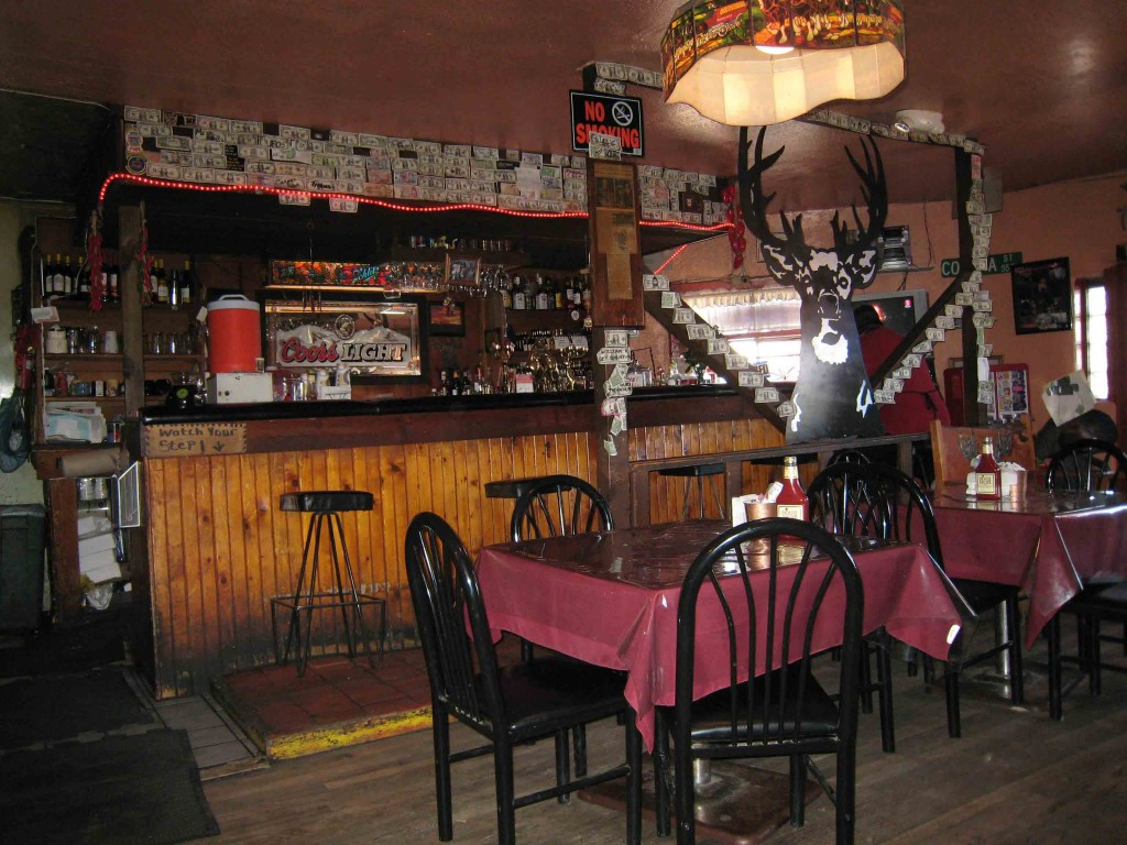The interior at Manny's Buckhorn Tavern