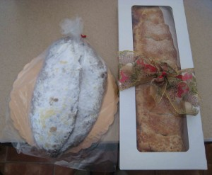 Traditional German Christmas Stollen and Lemon Raspberry Strudel