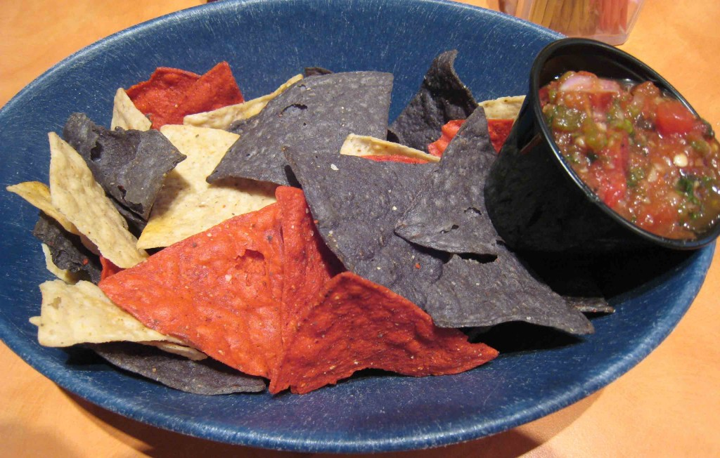 Chips and salsa at the Socorro Springs Brewery